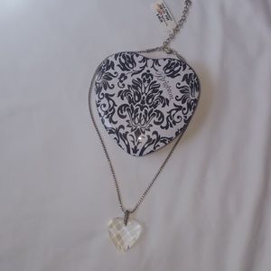NWT Brighton True Romance Crystal Heart Necklace